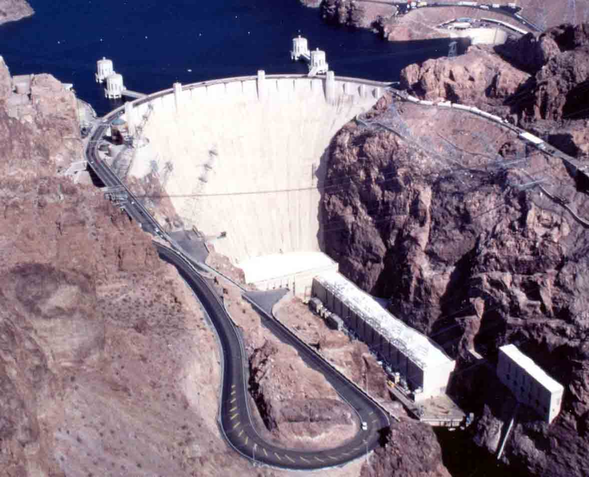 Hoover Dam and its Road